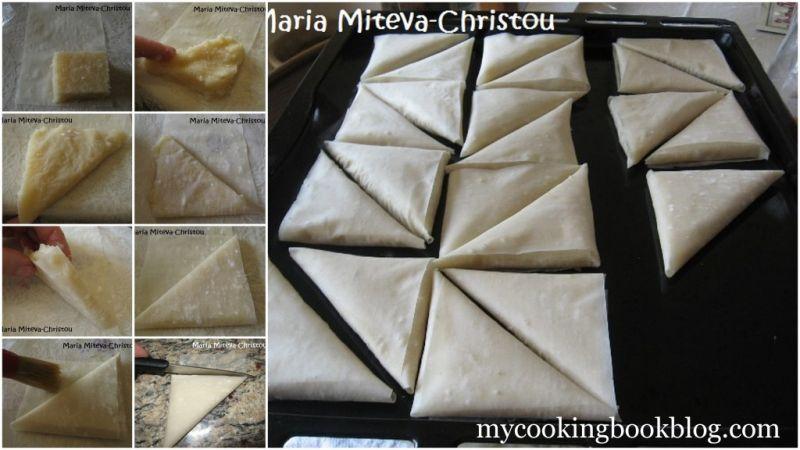 Постни Сиропирани Триъгълници с Крем от Грис