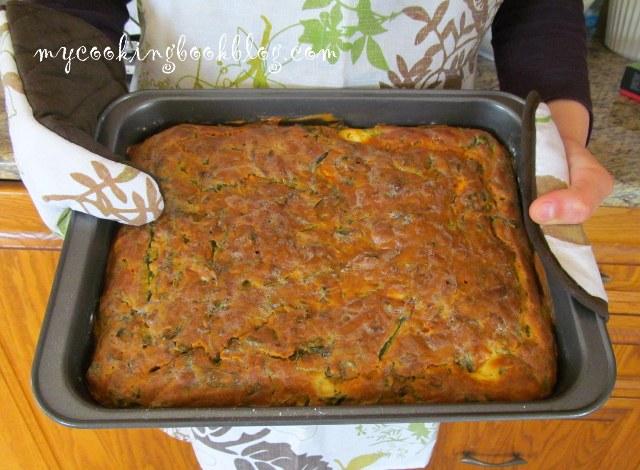Солен кекс с листа от цвекло и сирене