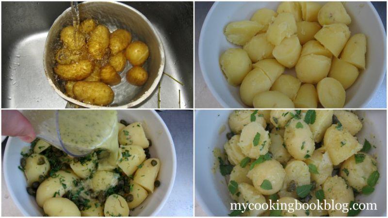 Картофена Салата с Мента, Лимон и Каперси