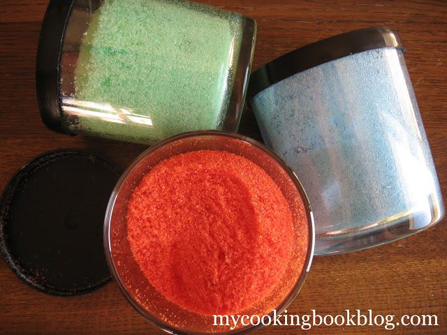 Как се прави цветна кристална захар