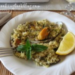Миди на фурна с ориз и подправки