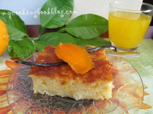 Портокалопита (Πορτοκαλόπιτα) или сиропиран портокало