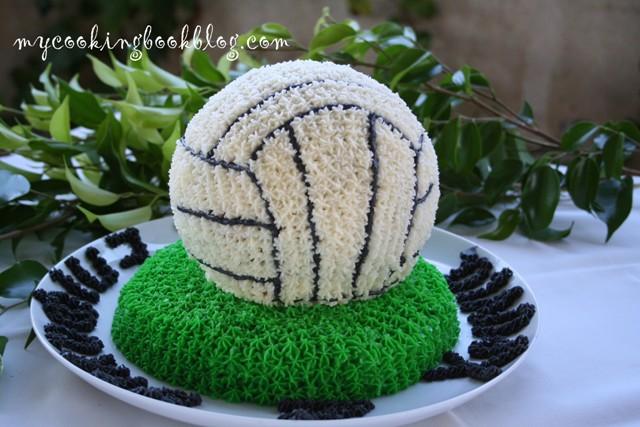 Торта топка за волейбол