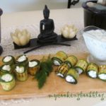 Рула от тиквички с крема сирене и фета