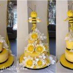 """Торта за кръщене с тема """"Пчеличка"""""""