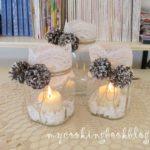 Декорация със свещ в буркан