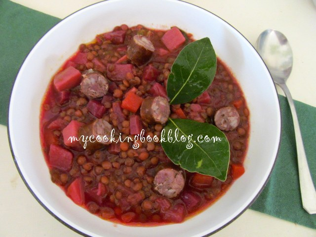 Зимна супа с леща по Унгарски