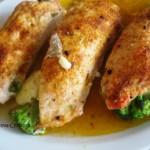 Пилешко филе пълнено с броколи и кашкавал или Пиле Акамантис (Akamantis)