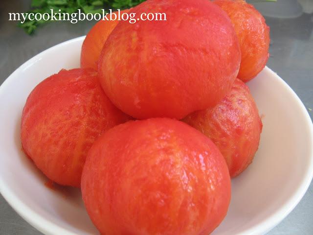 Как се белят домати