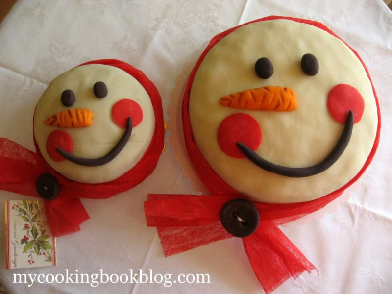 Коледен Кейк 2011 и как да направя Усмихнат Снежен Човек