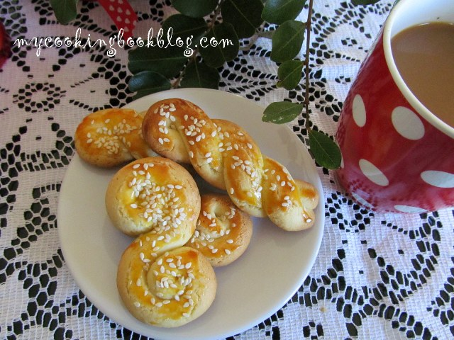 Кулуракя (Κουλουράκια) с масло или Гръцки Великденски курабии